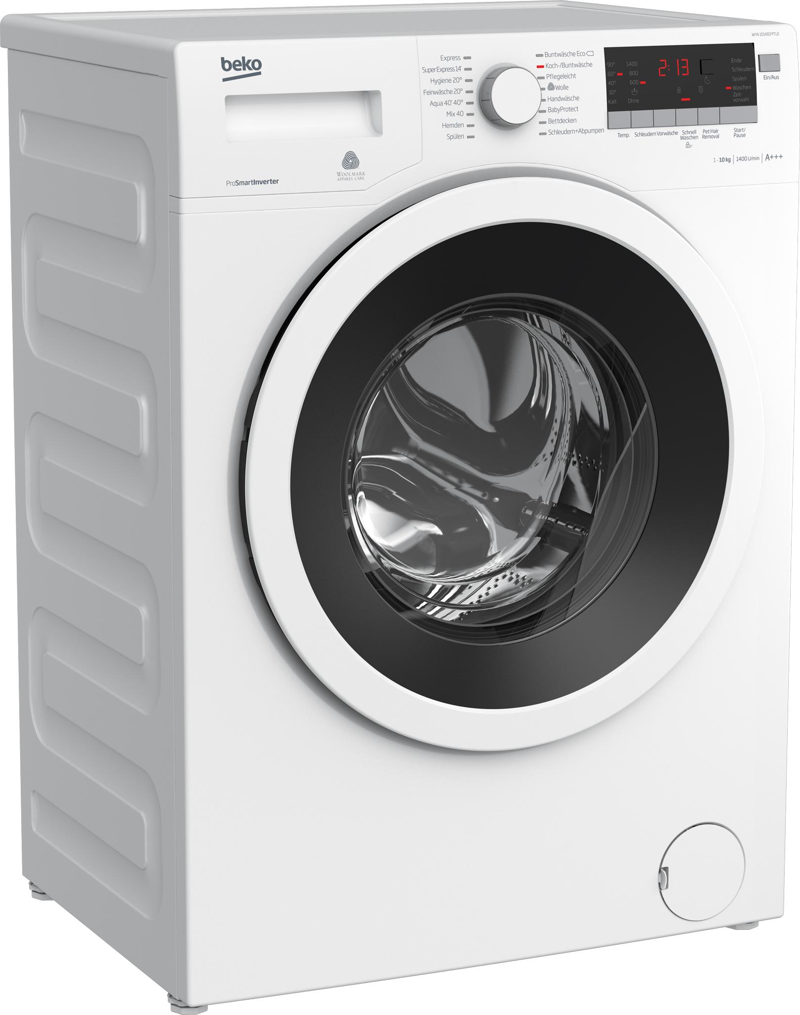 beko waschmaschine wya 101483 ptle 10 kg fassungsverm gen. Black Bedroom Furniture Sets. Home Design Ideas