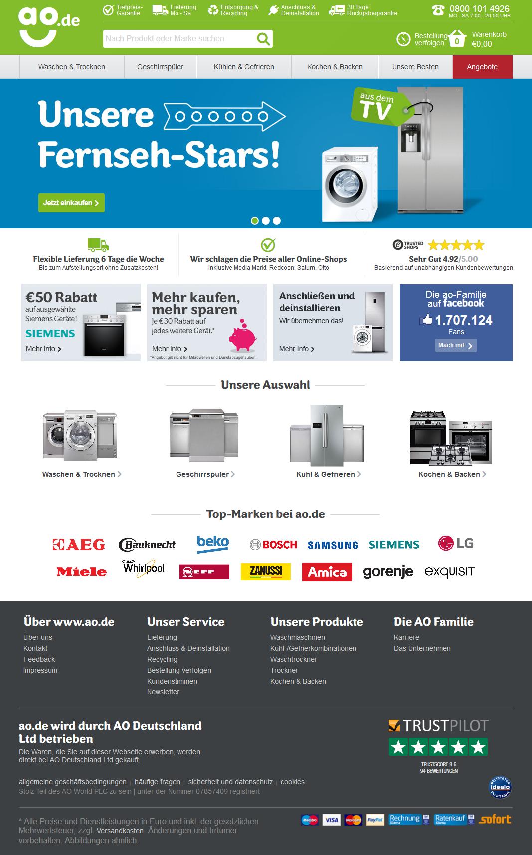 ao.de Homepage Screenshot