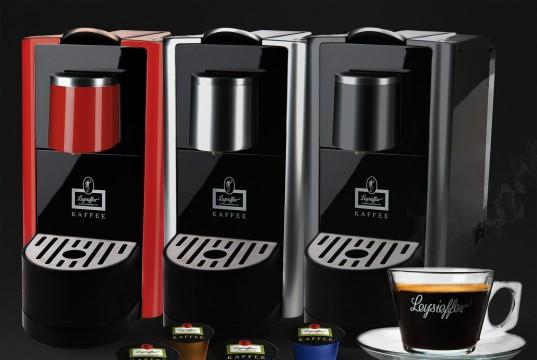 Leysieffer Kaffeemaschine LKM 2015 mit eigenem Kapseldesign.