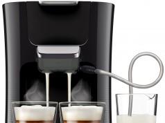 Philips Kaffeemaschine Senseo Latte Duo HD7855/50 für zwei Getränke gleichzeitg