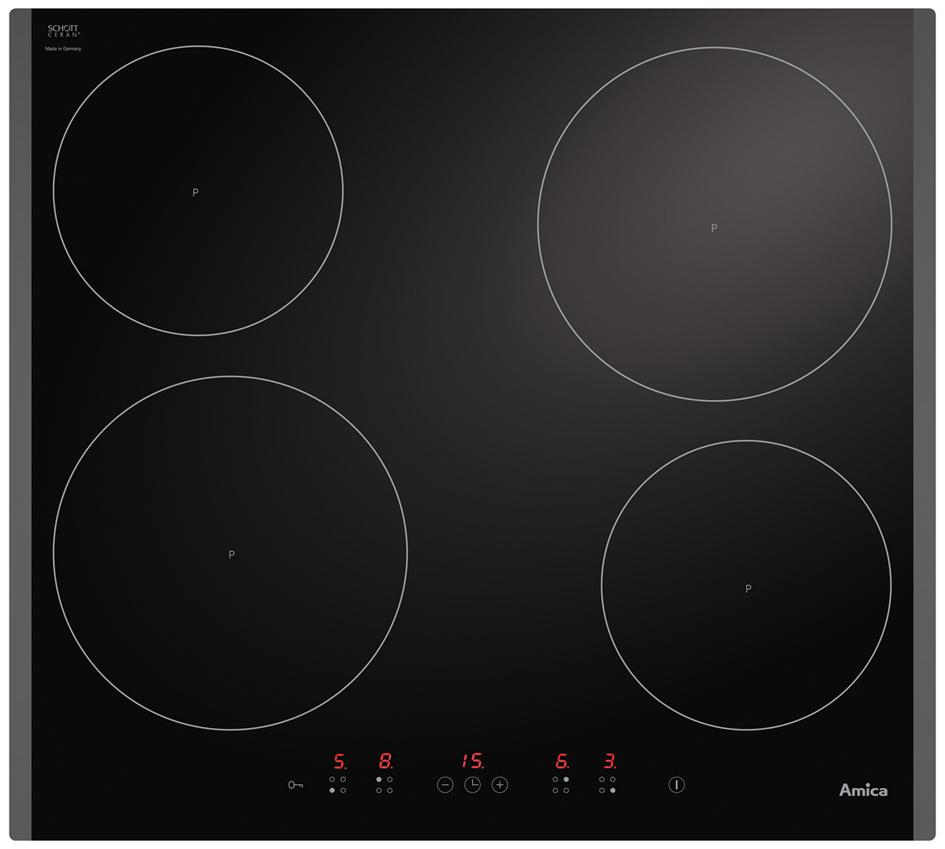 amica kochfeld in kmi 63302 f induktion topferkennung. Black Bedroom Furniture Sets. Home Design Ideas