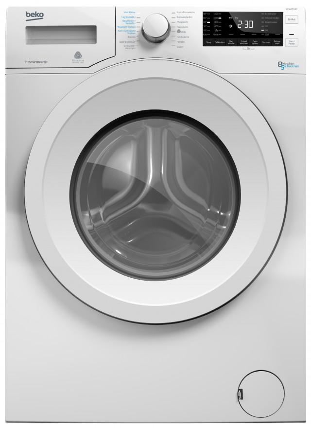 Beko Waschtrockner WDW 85140 mit nur 54 cm Tiefe.