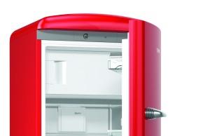 Der Gorenje Kühlschrank Retro Collection ORB153 in Rot