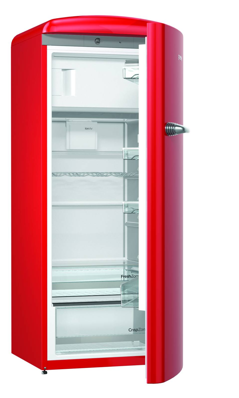 Der Gorenje Kühlschrank Retro Collection ORB153 in Rot