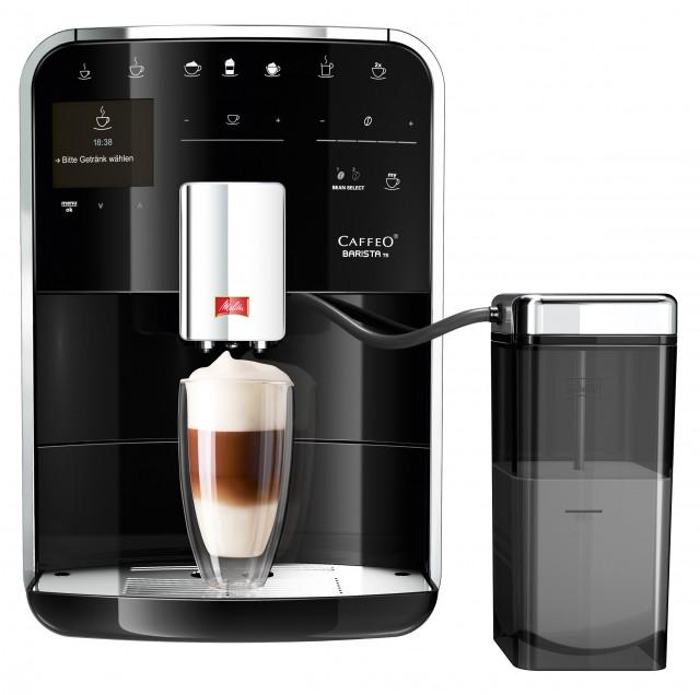 In die Melitta-Kampagne eingebunden ist auch der Kaffeevollautomat Caffeo Barista TS.