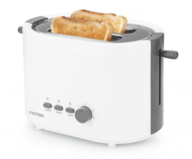 Petra Toaster Arctic TA 51.00 mit 2 Toastkammern.