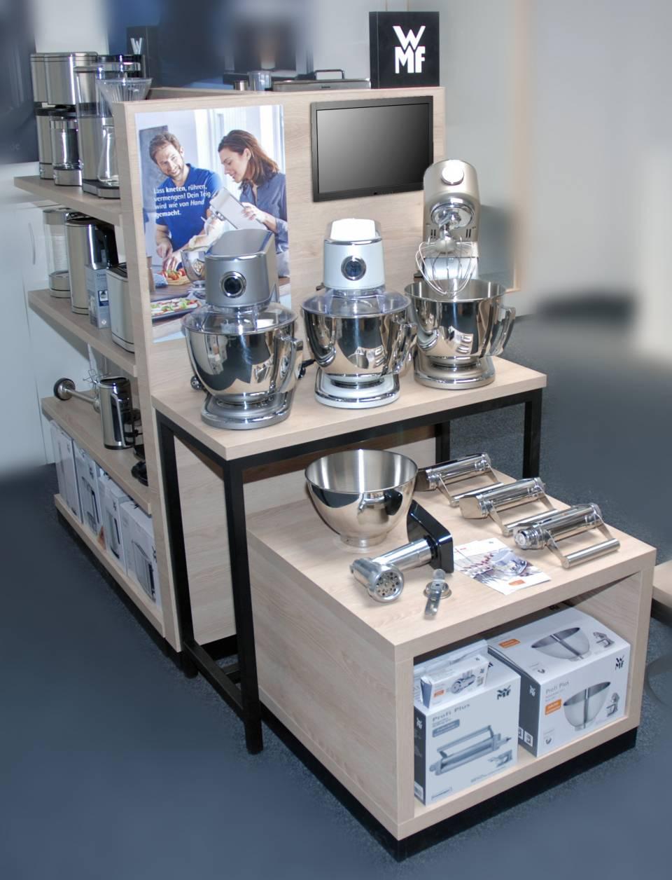 """Auf der IFA präsentierte WMF ein neues """"Shop in Shop""""-Modul für Elektrokleingeräte."""
