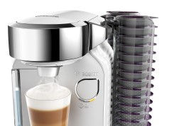 Bosch Kaffeemaschine Tassimo Caddy mit Platz für 128 Kapseln.