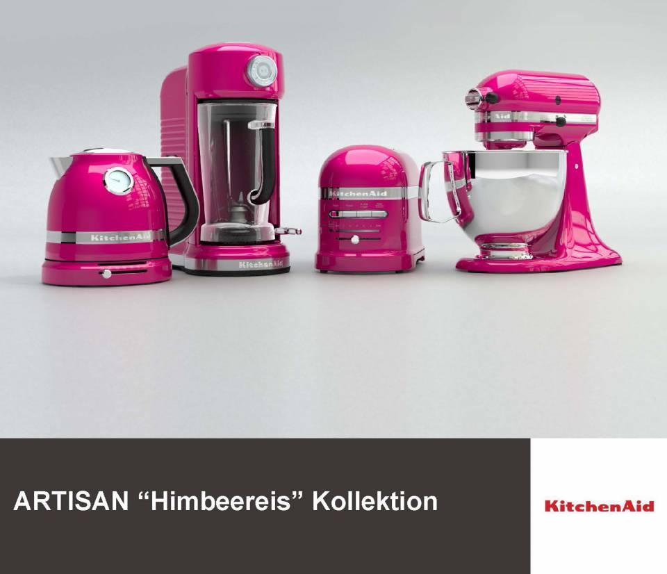 KitchenAid beteiligt sich mit vier Geräten an der weltweiten Pink-Ribbon Kampagne.