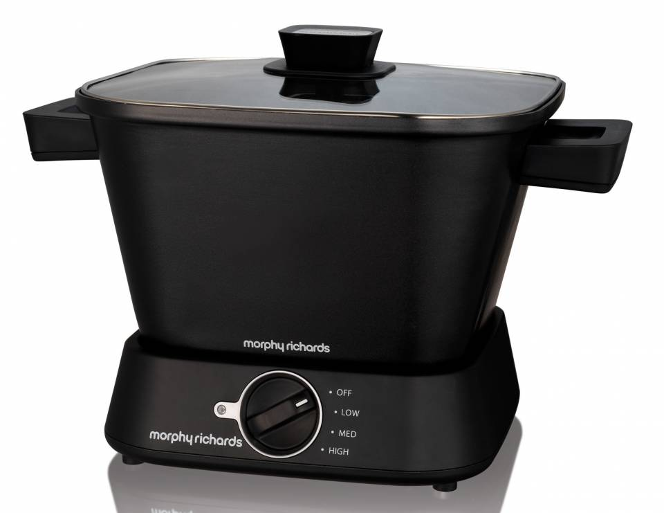 Morphy Richards Slow Cooker Sear and Stew Compact mit 3 Kocheinstellungen.
