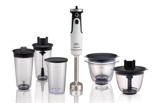 Morphy Richards Stabmixer Total Control mit Soft Start-Funktion.