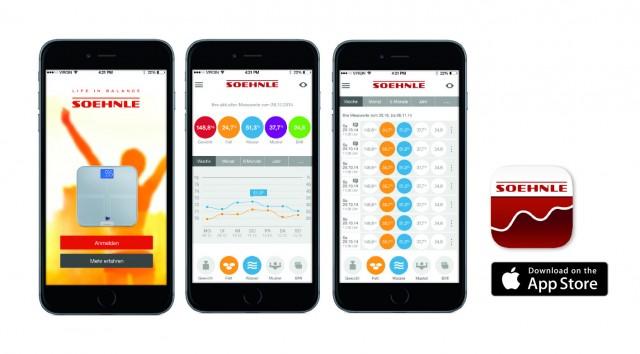 Die Soehnle Fitness-App für Personenwaagen mit Beispielen