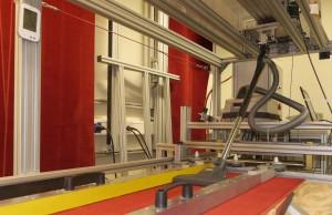 Testanordnung im Messlabor des Staubsaugerherstellers SEBO in Velbert