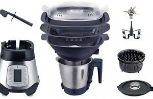 Kalorik Küchenmaschine TKG HA 1003 KTO mit Dampfgaraufsatz.