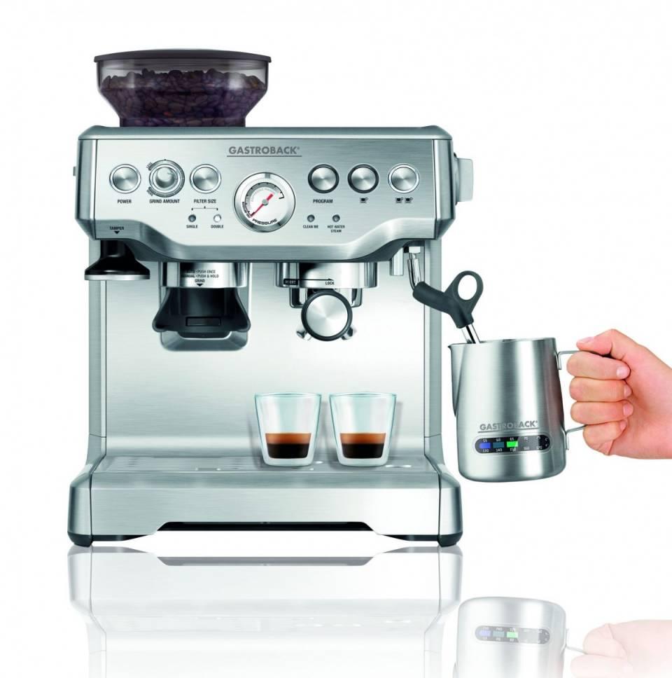 """Die richtige Maschine für den perfekten Espresso: Der neue """"Design Espresso Advanced Pro G s"""" von Gastroback."""