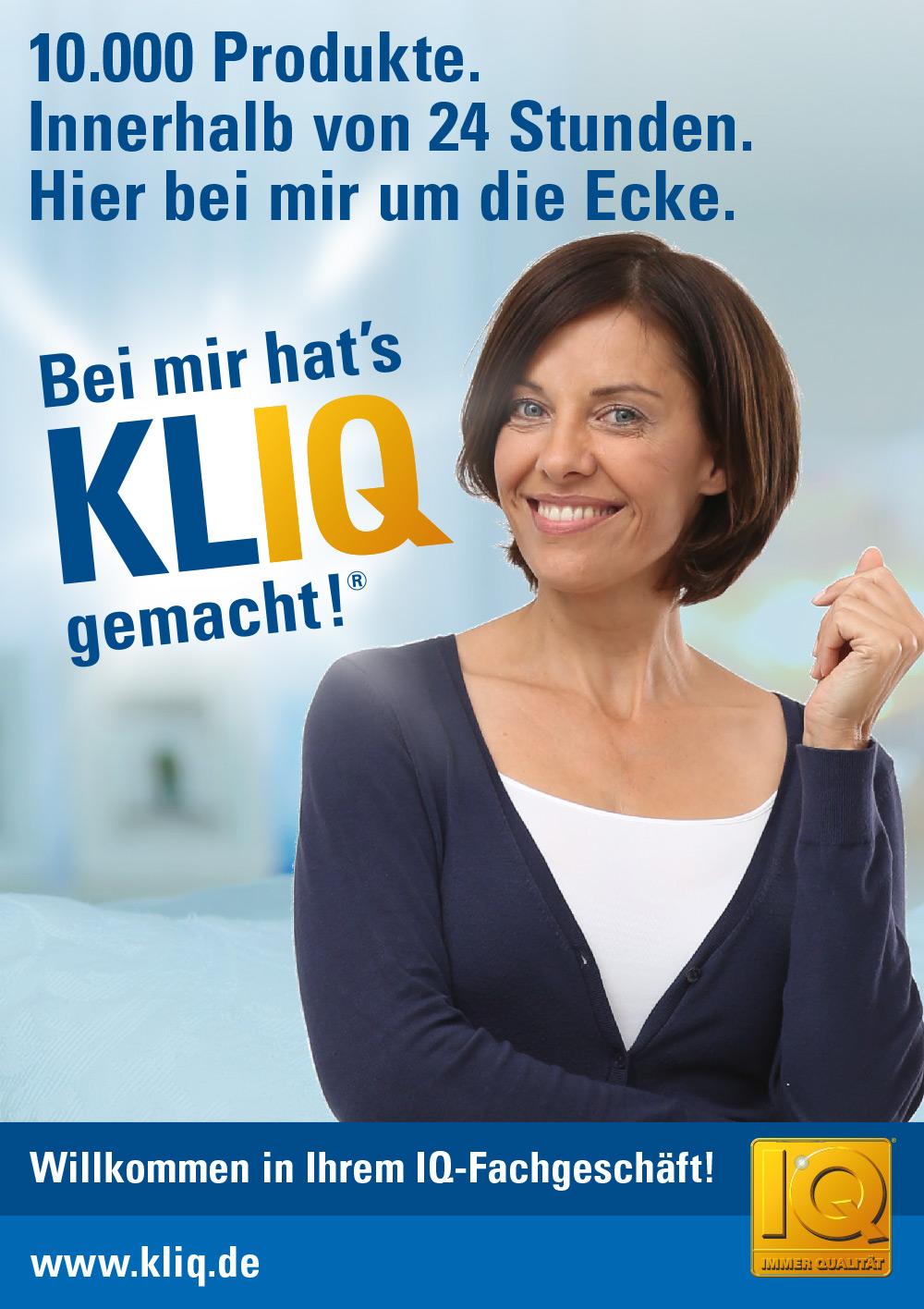 KLIQ Imageposter: Motto - 10.000 Artikel gleich um die Ecke