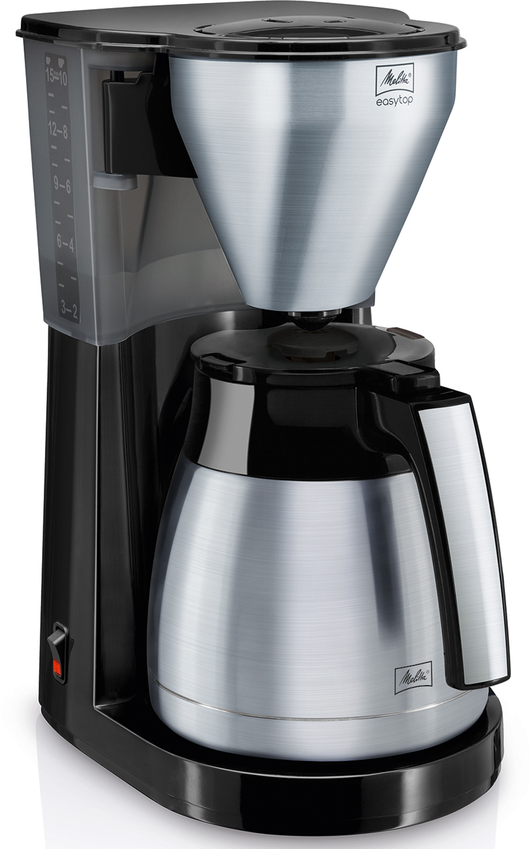 Melitta Filterkaffeemaschine EasyTop Therm mit Edelstahlelementen.