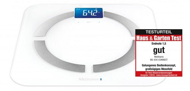 Gelungenes Bedienkonzept: Körperanalysewaage BS 430 connect von Medisana.
