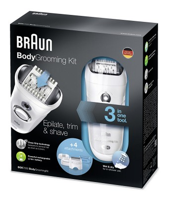 Braun Body Grooming Kit Serie BGK mit Smartlight.