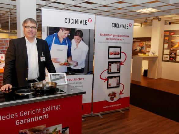 Mit dem mehrfach ausgezeichneten, interaktiven Kochassistenten Cuciniale gelingen selbst schwierige Gerichte.