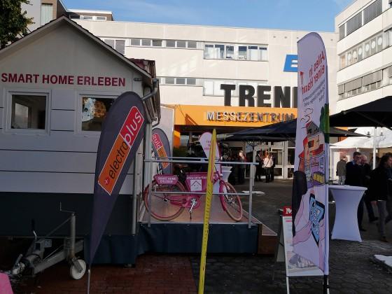 """Zusammen mit der Telekom stellte der EK das Thema """"Smart Home"""" groß heraus."""