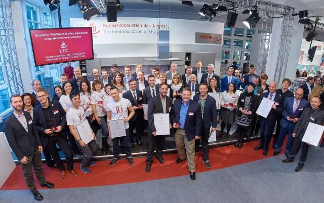 So sehen Sieger aus: Die Gewinner des KüchenInnovationspreises auf der Ambiente in Frankfurt.