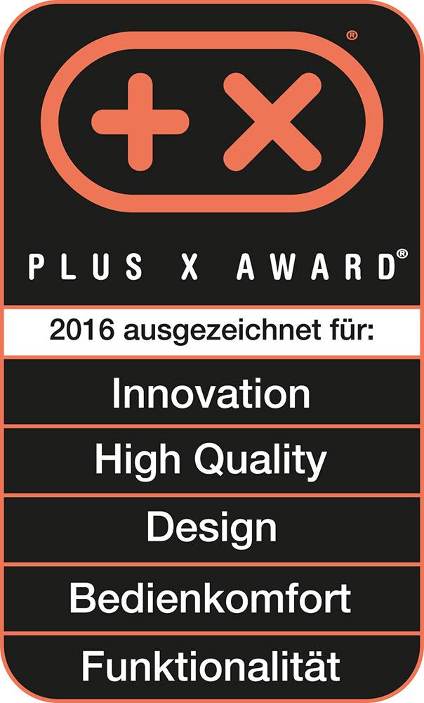 Plus-X-Award-Gütesiegel für Novis Vita Juicer