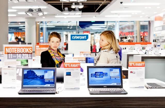 Auch die Strores haben Einfluss auf den wachsenden Besucherstrom bei Cyberport.
