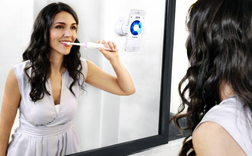 Oral-B Zahnbürste Genius mit Positionserkennungs-Technologie.