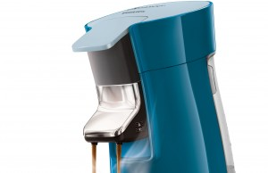 Die Philips Senseo Viva Café Kaffeemaschine in Petrol