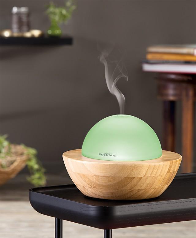 Soehnle Aroma Diffuser Modena aus hochwertigem Bambus und Glas.