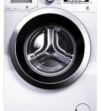 Puristisch und geradlinig präsentieren sich die Waschmaschinenmodelle von Beko wie hier die WMY 71643 PTLE.