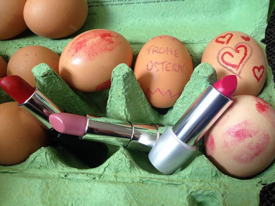 Ostermotiv dekorierte Eier