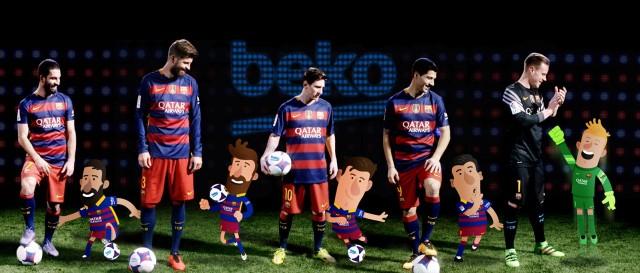 Animiert und real: Globale Kommunikationskampagne mit den Stars des FC Barcelona.