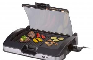 Cloer Barbecue-Grill 6725 mit Aluminium-Druckguss-Grillplatte.