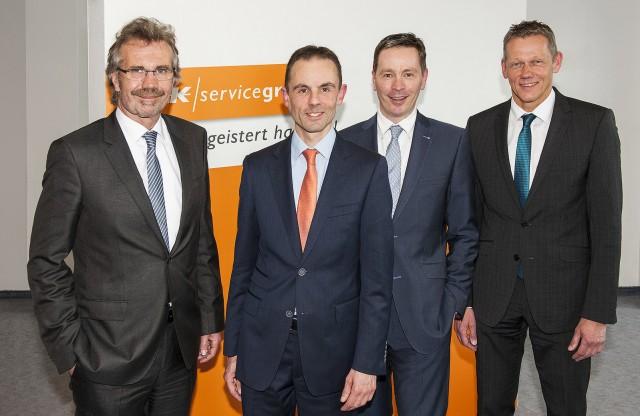 Der neue Aufsichtsrat der Bielefelder EK/servicegroup.(v.li.): Wolfgang Neuhoff, Hannes Versloot, Johannes Lenzschau und Wilhelm Behrends.