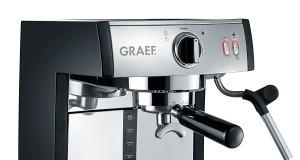 Graef Espresso-Kaffeemaschine Pivalla verarbeitet auch Kaffee- und Aroma-Pads.