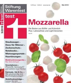 Cover Stiftung Warentest 05/2016