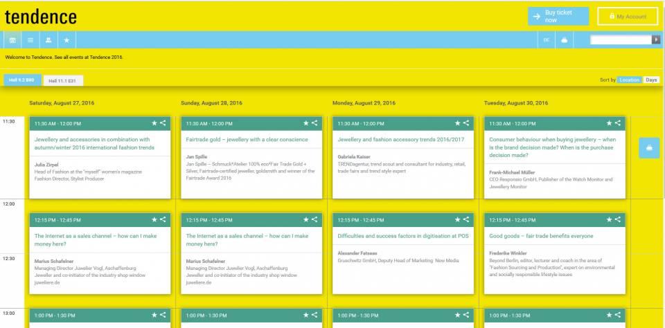 Screenshot Tendence Academy