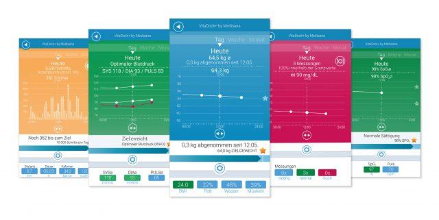 Medisana VitaDock+ App 2.0 mit neuem Design und neuen Funktionen.