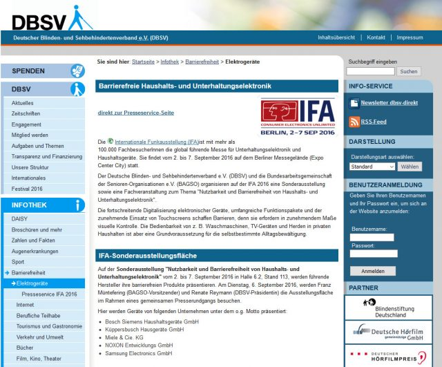 Screenshot http://elektrogeraete.dbsv.org