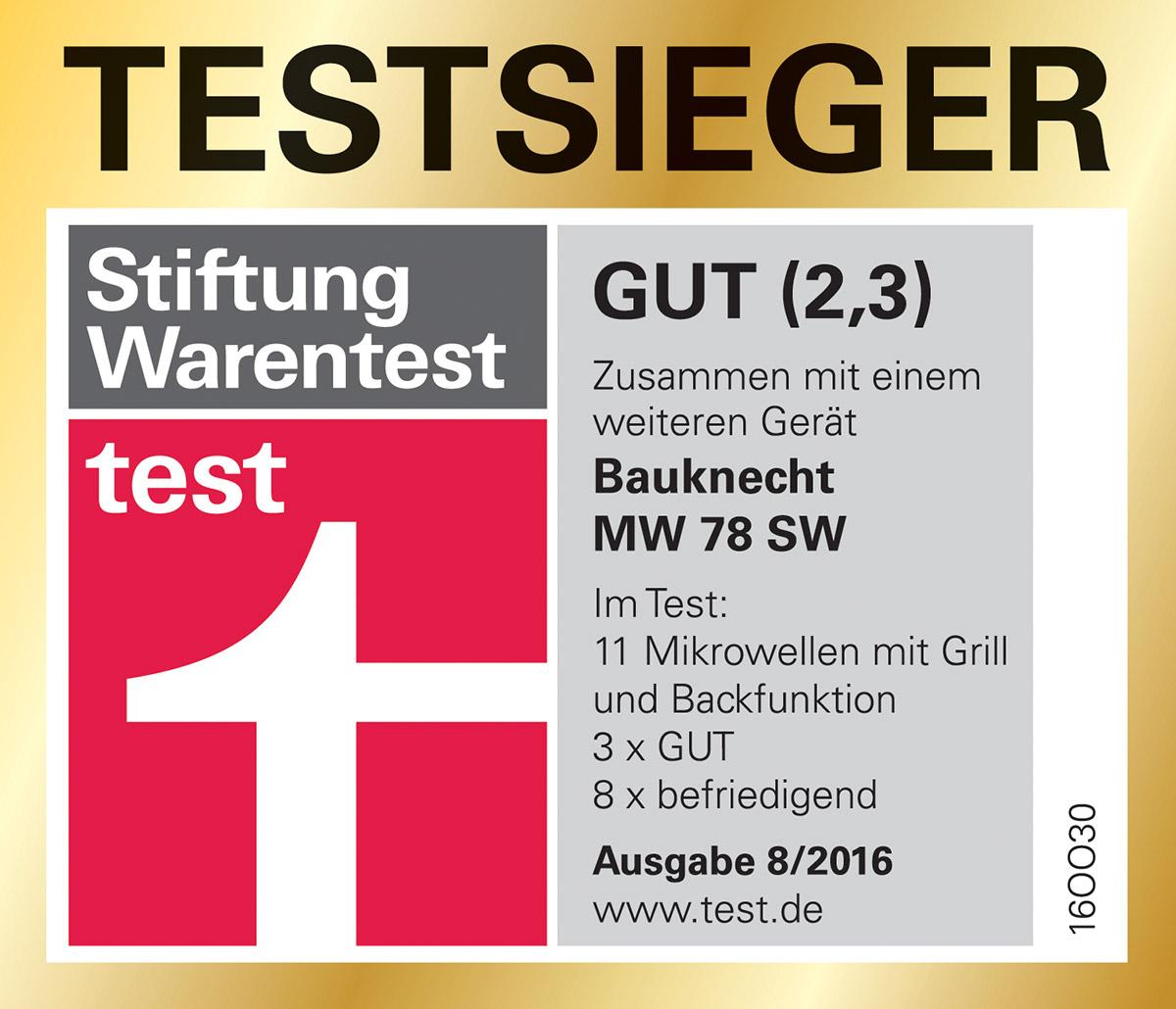 StiWa Siegel Test Bauknecht MW 78 SW Mikrowellen