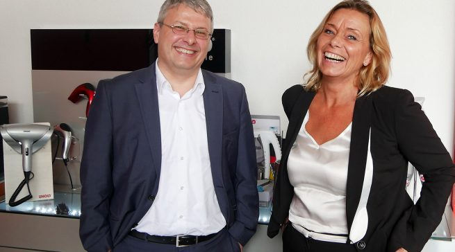 Sprachen mit infoboard.de über 50 Jahre Unold: Yvonne und Michael Unold.
