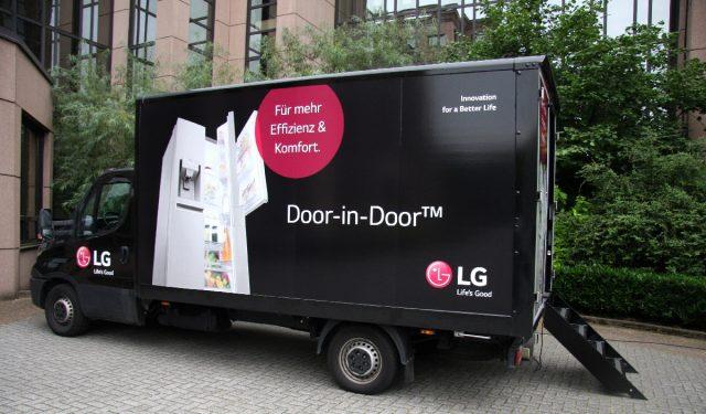 Coole Produktschulung: Der LG-Truck ist wieder unterwegs.