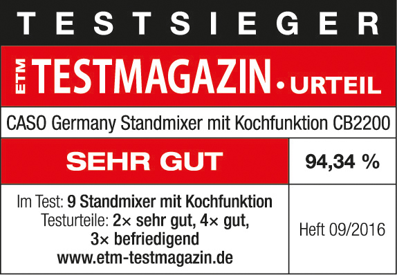 Logo ETM Testmagazin Caso Standmixer
