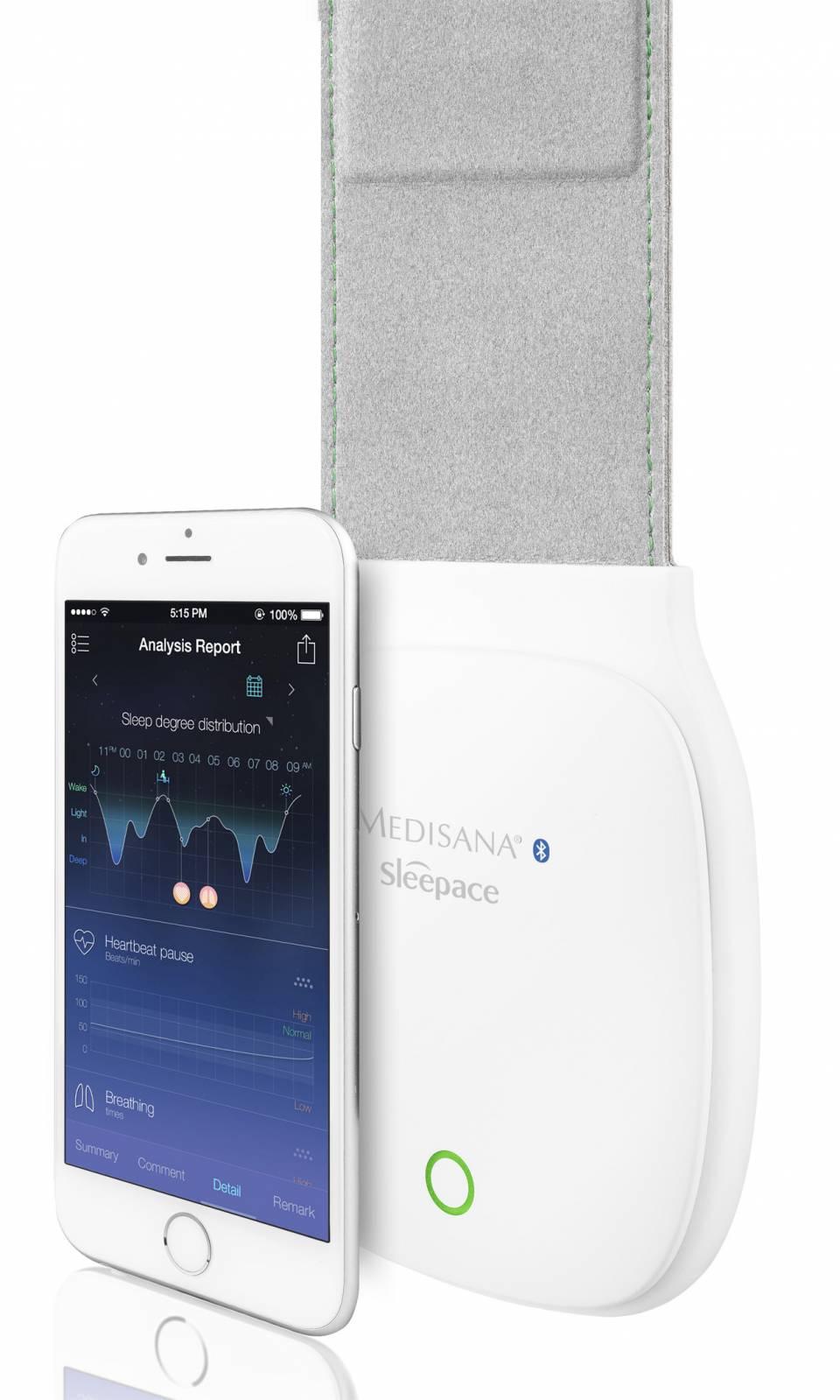 Medisana Schlafmonitor Sleepace mit Sleepace App.