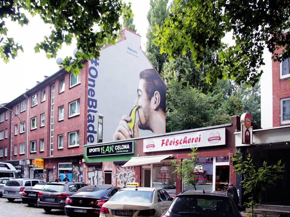Philips landete mit der Street Art des OneBlade einen künstlerischen Coup.