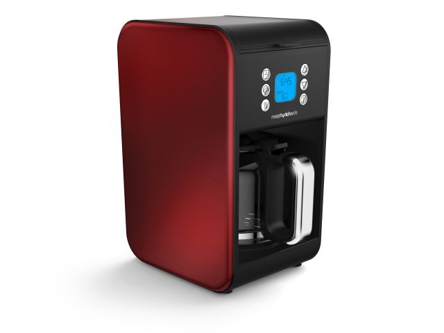 Die Morphy Richards Accents Kaffeemaschine in Rot