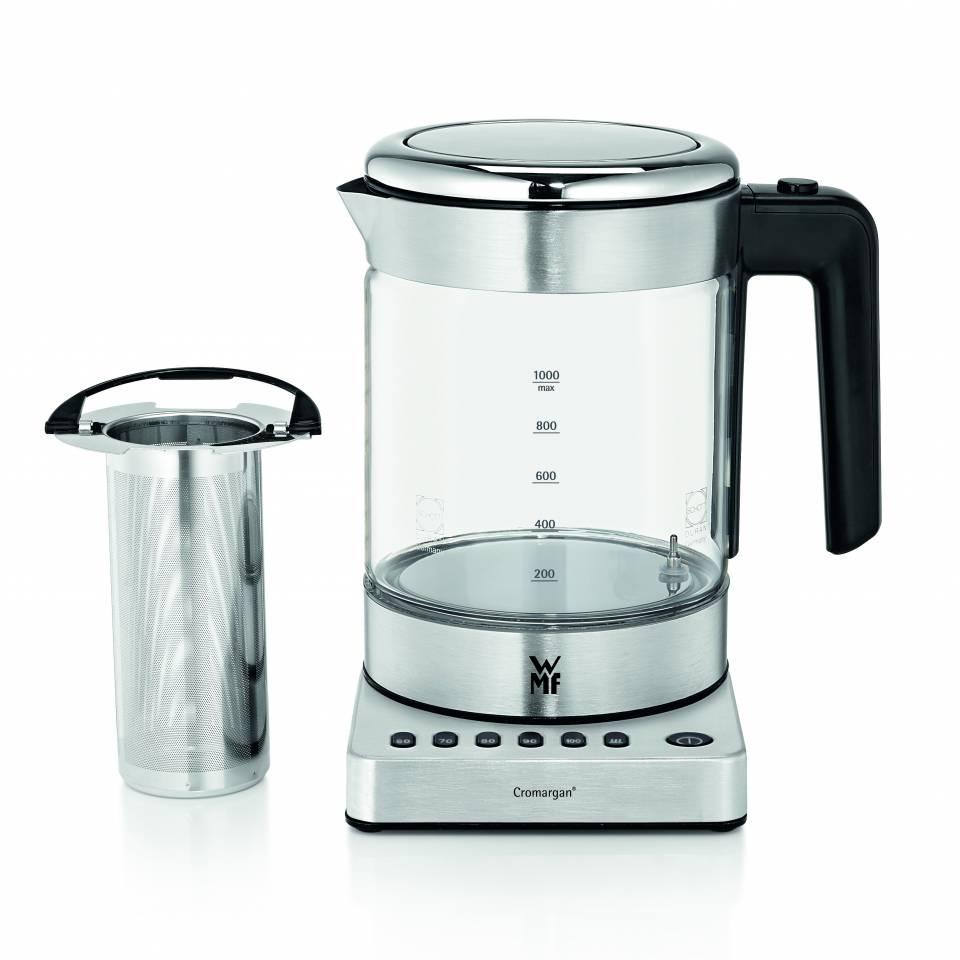 DDer WMF KÜCHENminis® Glas-Wasserkocher mit Aroma-Mikro-Sieb