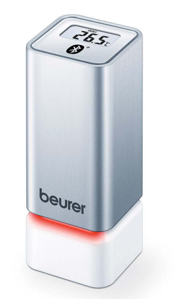 Beurer Thermo-Hygrometer HM 55 mit Raumklima-Indikator.